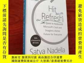 二手書博民逛書店Hit罕見Refresh Satya Nadella(精裝)Y23625 Satya Nadella Harp