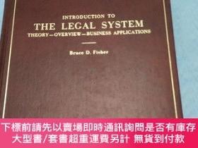 二手書博民逛書店INTRODUCTION罕見TO THE LEGAL SYSTEM THEORY-OVERVIEW-BUSINES