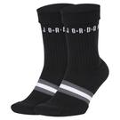 R- NIKE NIKE AIR JORDAN 中筒 高筒 襪子 運動長襪 黑灰白 1雙 SK0025-010