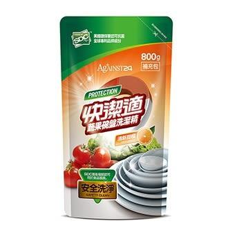 快潔適蔬果碗盤洗潔精補充包-清新甜橙800gm