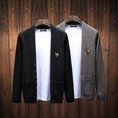 全館88折ღ    新款針織開衫男外套青年休閒個性韓版修身外穿男毛衣潮流線衫   mandyc衣間