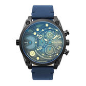 POLICE 雷霆魄力多功能腕錶-藍-15381JSB-61