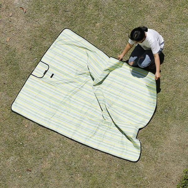 野餐墊戶外便攜野炊布地墊外出地墊子可折疊防水草坪沙灘墊子【帝一3C旗艦】