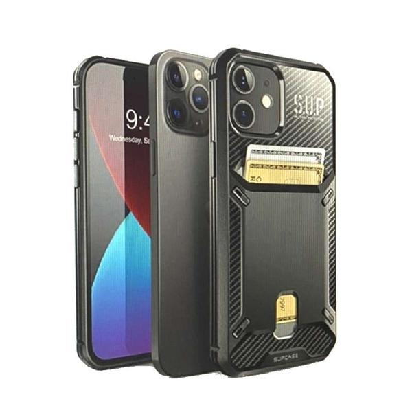 [9美國直購] SUPCASE Unicorn Beetle Vault Series Built-in Card Holder 黑色 for iPhone 12 / iPhone 12 Pro (6.1吋) B08GX8KBRH