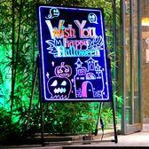 LED電子6080熒光板手寫廣告展示牌發光夜光屏立式寫字黑板留言板 JD  一件免運