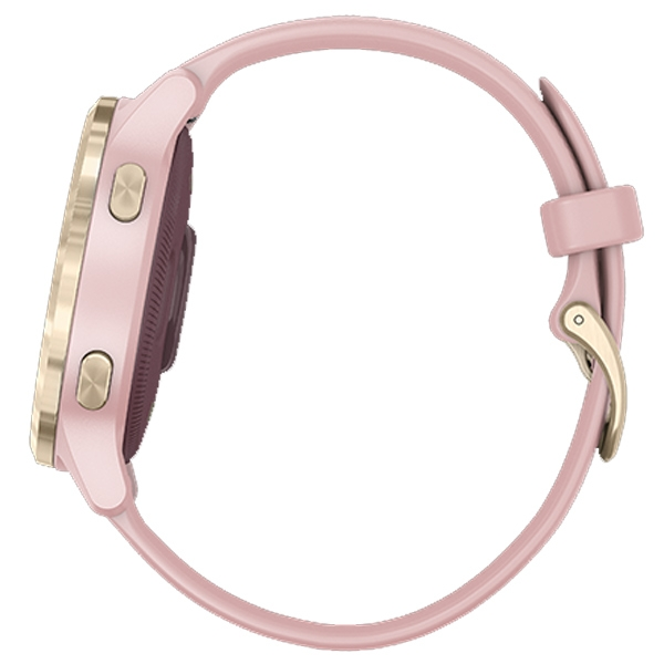 GARMIN / 010-02172-35 / vivoactive 4S GPS 智慧腕錶 矽膠手錶 乾燥玫瑰色 40mm