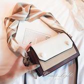 小包包女新款潮韓版百搭側背包絲巾單肩時尚手提包小方包 果果輕時尚