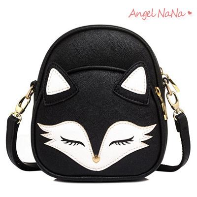 高質感斜背包。小狐狸立體拼接防刮耐磨女側背包 (SBA0212) AngelNaNa