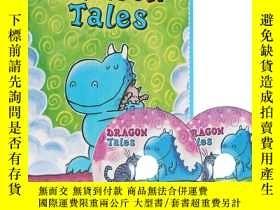 二手書博民逛書店英文原版罕見5本書配2片CD Dragon Tales Box