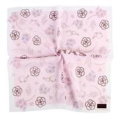CLATHAS山茶花花束純綿帕巾(粉紅色)989265-7