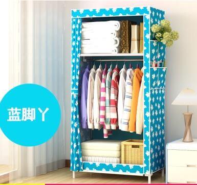 衣櫃 收納組裝折疊小號簡易帆布衣櫃 鋼管加固宿舍布藝衣櫥單人布櫃【快速出貨八折鉅惠】