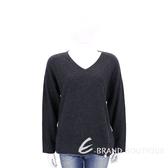 ALLUDE 深灰色側拉鍊設計羊毛針織上衣(70%WOOL) 1710097-11