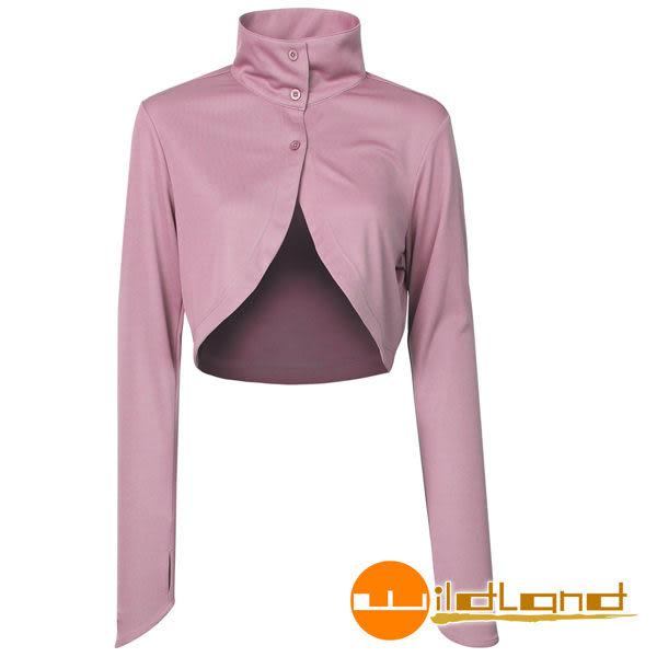 Wildland 荒野 W1803-50粉紫色 女 抗UV排汗快乾袖套衣/吸濕排汗/快乾/防曬外套/單車休閒防曬衣