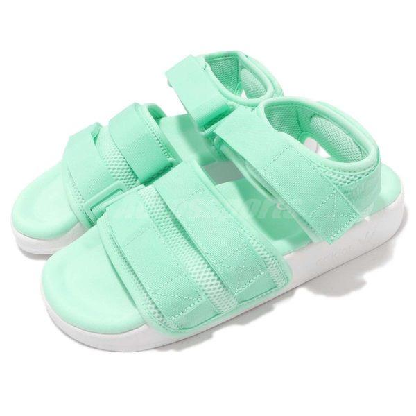 6ff31598f718 adidas 涼鞋Adilette Sandal 2.0 W 綠粉綠白二代魔鬼氈涼拖鞋基本款女鞋 ...