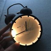 鬧鐘靜音簡約床頭創意鐘錶個性學生電子鐘韓版可愛小鬧鐘迷你臥室 樂活生活館