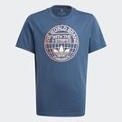 Adidas Originals GRAPHIC PRINT 童裝 短袖 T恤 印花 純棉 藍粉【運動世界】GN4127