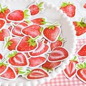 【BlueCat】悠悠草莓 盒裝貼紙 (45枚入) 手帳貼紙 貼紙