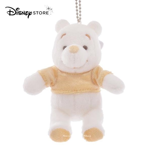 (現貨&日本實拍)日本DISNEY STORE 迪士尼商店限定 小熊維尼 雪白維尼 香檳金 別針珠鍊玩偶吊飾