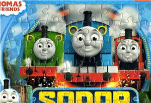 湯瑪士小火車噗噗彩色拼圖盒【拼圖】