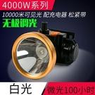LED感應小頭燈強光充電超亮戶外頭戴式夜釣礦燈電筒打獵釣魚燈