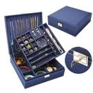首飾盒 首飾盒雙層絨布歐式木質韓國公主家居帶鎖裝飾品化妝女收納盒大【限時八五鉅惠】