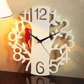 掛鐘個性靜音藝術時尚創意客廳大號掛錶時鐘數字啄木鳥鐘錶  14寸 igo