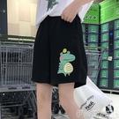 五分褲ins運動五分短褲女寬鬆2020新款外穿直筒港味中褲高腰休閒韓版潮 伊蒂斯