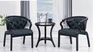 【南洋風傢俱】房間椅洽談椅系列-鋼烤亮黑休閒小圓桌椅組 CX897-4 CX607-3