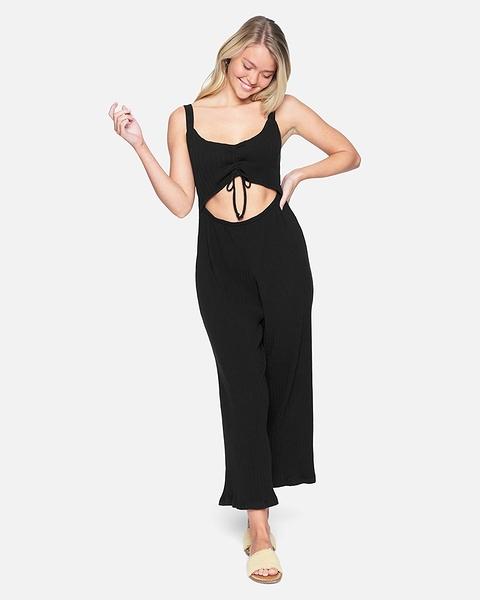 HURLEY|女 DAY TRIPPER CROP JUMPSUIT 連身褲