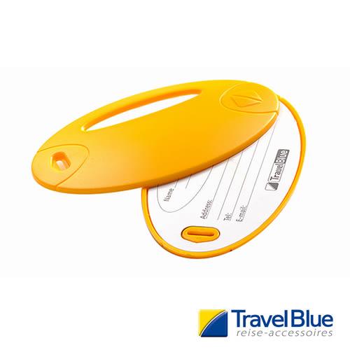 英國Travel Blue藍旅 螢光行李掛牌 黃色 2入 露營│登山│戶外│旅遊│出國│背包掛牌TB015B