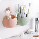 創意無痕吸盤牙刷架牙具座浴室衛生間吸壁式牙刷牙膏收納架置物架 快速出貨