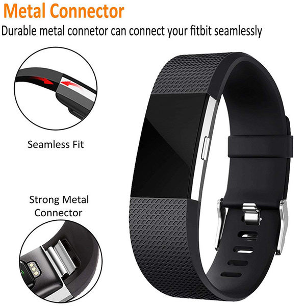 Fitbit charge2 矽膠 錶帶 fitbit 替換帶 智慧手環 手錶帶 防汗 防水 腕帶 炫彩 男女 金屬卡扣 運動腕帶