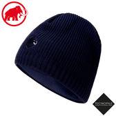 【MAMMUT 長毛象 Sublime Beanie 雙層針織保暖羊毛帽《藏青》】1191-01542/毛線帽/禦寒帽/登山
