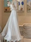 溫柔金絲雙層雪紡大擺長裙高腰顯瘦a字半身裙2021春款設計感紗裙 果果輕時尚