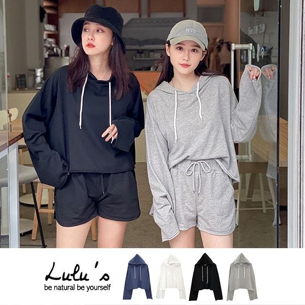 LULUS【A01200586】K自訂款不修邊連帽上衣4色