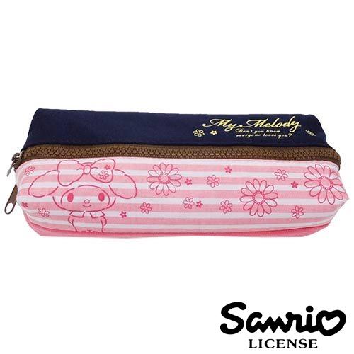 【日本正版】美樂蒂 My Melody 花朵款 雙層 筆袋 鉛筆盒 三麗鷗 Sanrio - 424787