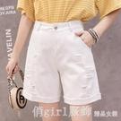 牛仔五分褲女寬鬆直筒短褲2020新款四5分夏季中褲外穿高腰顯瘦薄 618購物節