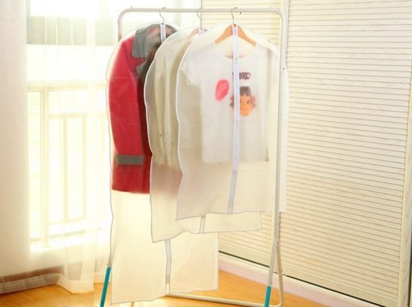 【現貨供應】服裝衣物防塵套西服大衣服防塵罩透明收納袋無紡布西裝袋【H00516】