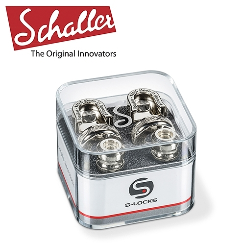【敦煌樂器】Schaller S-Locks 吉他安全背帶扣 金屬鎳色款