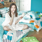 床包 / 雙人【遇見朵朵-兩色可選】含兩件枕套,100%精梳棉,奇妙童話時光,戀家小舖台灣製