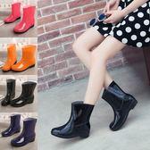 雨鞋 膠鞋下雨鞋雨靴女韓國成人短筒防滑加絨保暖防水鞋套鞋水靴夏【限時八八折】