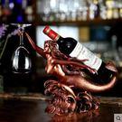 美人魚擺件創意樹脂酒櫃紅酒架擺件擺飾客廳家用葡萄酒酒架子杯架