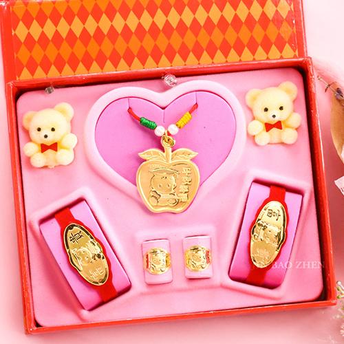 金寶珍銀樓-平平安安-彌月金飾音樂禮盒(1.00錢)