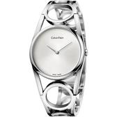 Calvin Klein CK Round 紐約時裝手環錶-銀/S K5U2S146