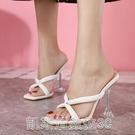 高跟涼鞋2021夏季時尚韓版高跟涼鞋女貨號2-12 【快速出貨】