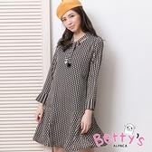 betty's貝蒂思 優雅領口綁結洋裝(黑色)