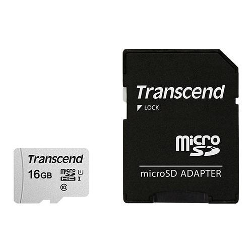 【原廠公司貨】創見 16GB Micro SD 300S 記憶卡 SDHC U1 C10 TF SD轉卡 16G