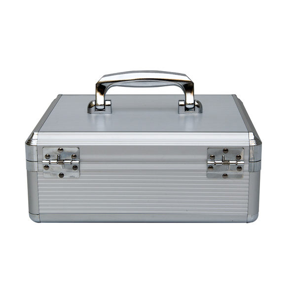 鋁合金多功能收銀箱收銀盒子手提錢櫃裝錢箱提款箱帶鎖MJBL