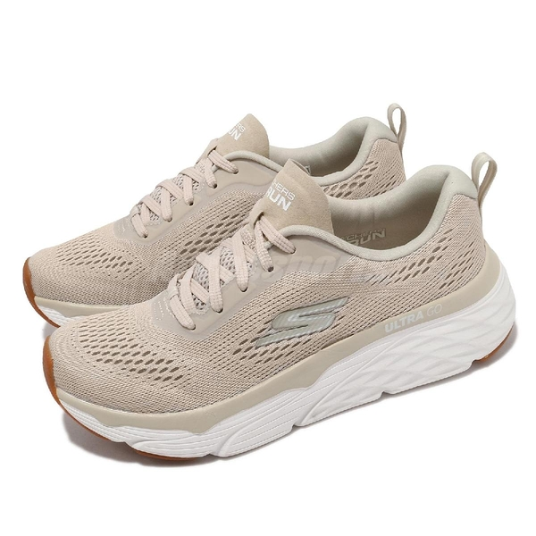 Skechers 慢跑鞋 Max Cushioning Elite Destination Point 女鞋 奶茶 白 厚底 【ACS】 128262NAT