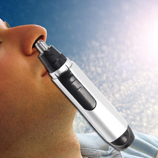 電動 鼻毛修剪器 可水洗 耳毛 鼻毛剪 鼻毛刀  不鏽鋼 不銹鋼  電池式 旅遊 出差【P233】慢思行